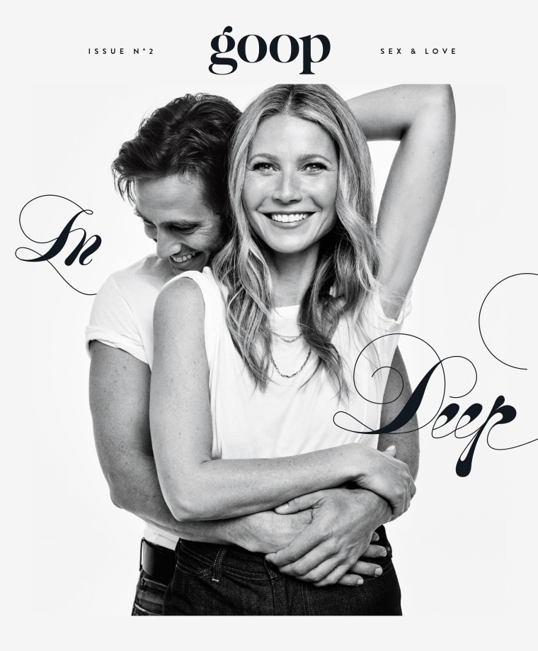 Gwyneth Paltrow announced her engagement to Brad Falchuk in grand fashion - on the cover of the latest issue of Goop.