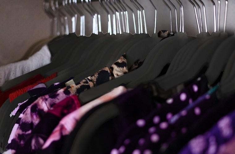 Hangers on rack