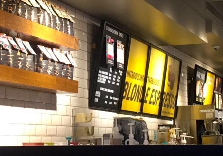 Blonde Espresso signage