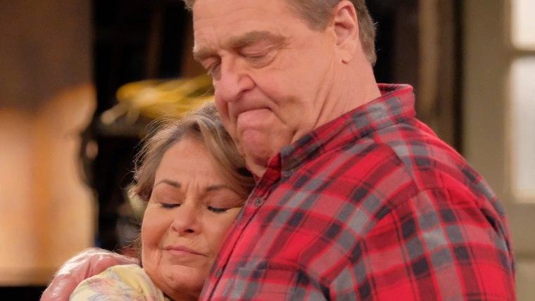 "Roseanne Barr and John Goodman on ""Roseanne"""