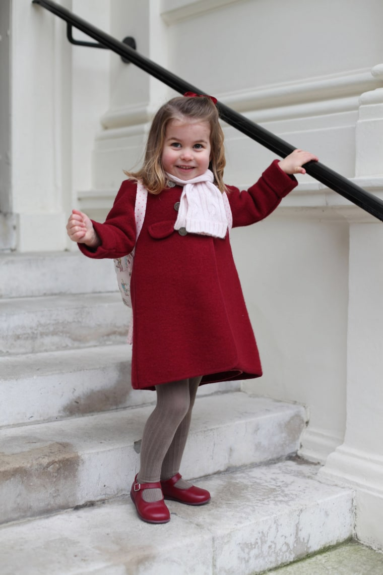 The images were taken by Charlotte's mother, Duchess Catherine of Cambridge. Charlotte, younger sister to George, will turn three in May and by then is expected to have a new younger sibling because the Duchess is expecting her third child in April.