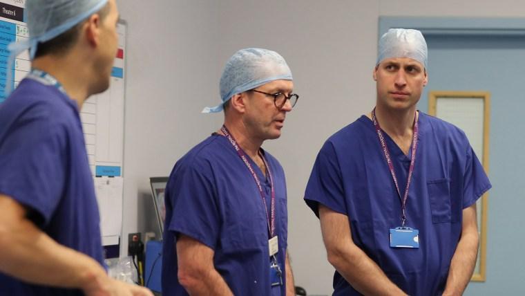 The Duke of Cambridge Visits The Royal Marsden NHS Foundation Trust