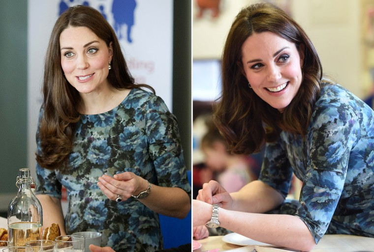 Former Kate Middleton wears Seraphine maternity dress