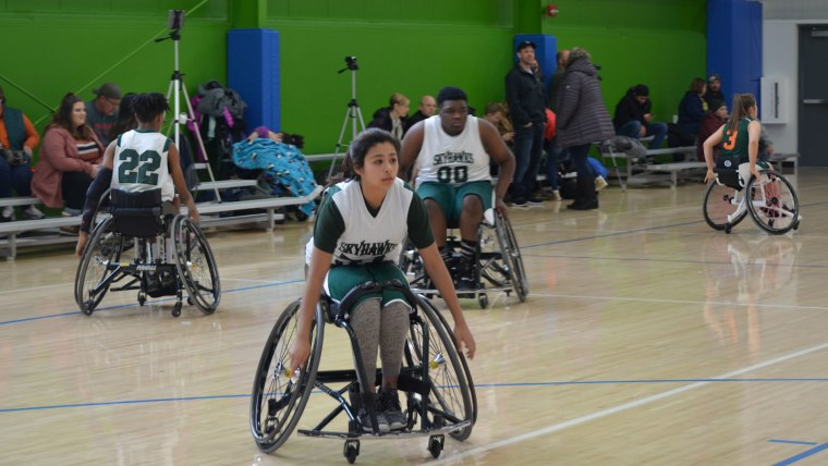 Playing wheelchair basketball has helped Gonzalez with her confidence and independence.