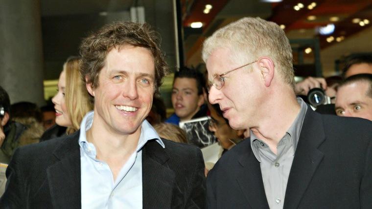 Regisseur Richard Curtis Und Schauspieler Hugh Grant (L)Bei Der Deutschlandpremier