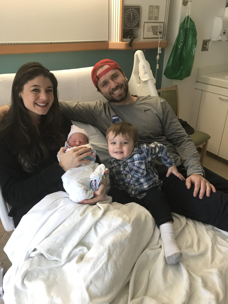 After leaving the hospital after giving birth to her son, Teddy, Kristin Johnston stopped at Taco Bell to grab something to eat.