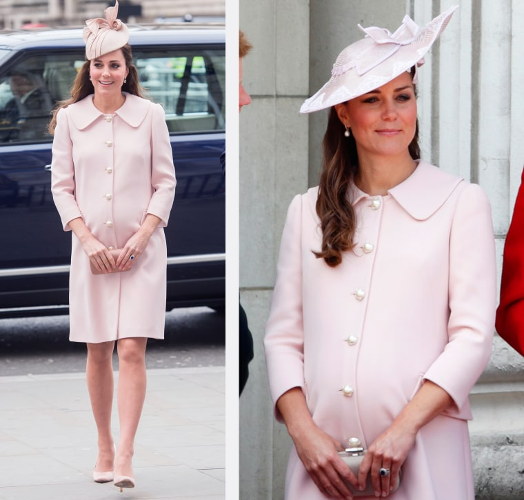 Catherine, Duchess of Cambridge attends the Commonwealth Service at Westminster Abbey on March 9, 2015 in London, England.   Catherine, Duchess of Cambridge stands on the balcony of Buckingham Palace during the annual Trooping the Colour Ceremony on June 15, 2013 in London, England.