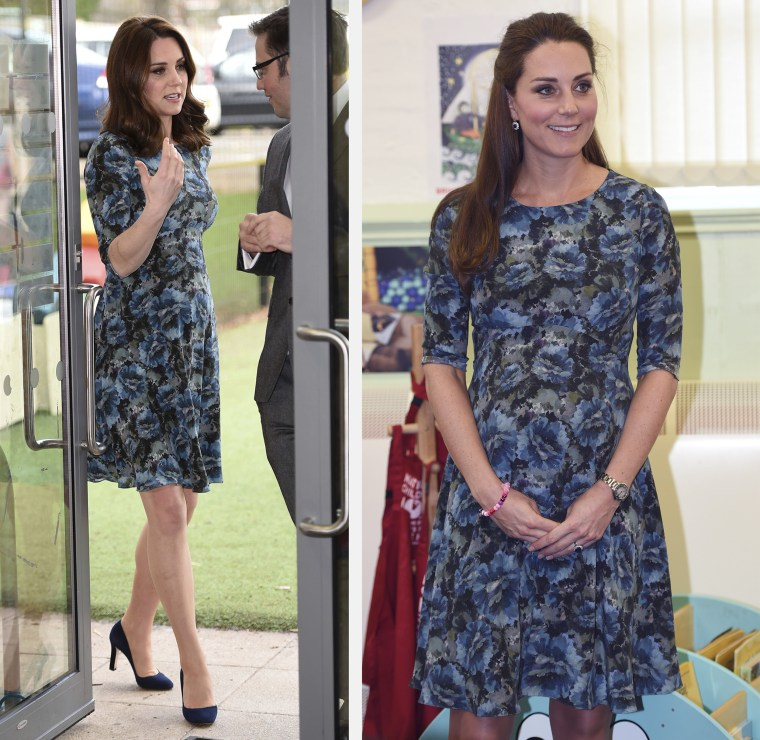 Kate, Duchess of Cambridge arrives Wednesday Jan. 10, 2018 for a visit to the Reach Academy Feltham, in London, a school working in partnership with Place2Be and other organisations to support children, families and the school community.   Duchess of Cambridge. Cape Hill Children's Centre, Smethwick, Feb. 18, 2015.