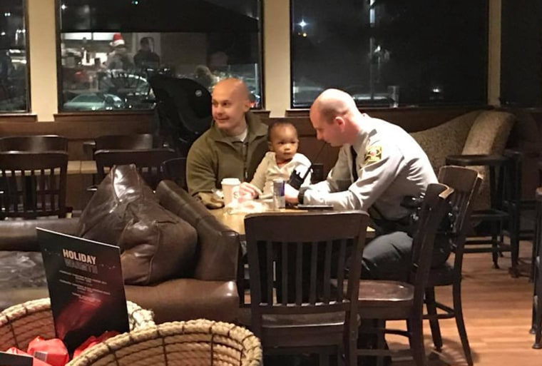 State Trooper Brad Marshall has a young daughter of his own at home.
