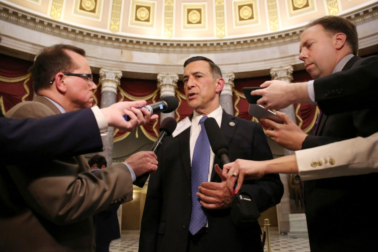 Image: Rep. Issa speaks to reporters on Capitol Hill in Washington
