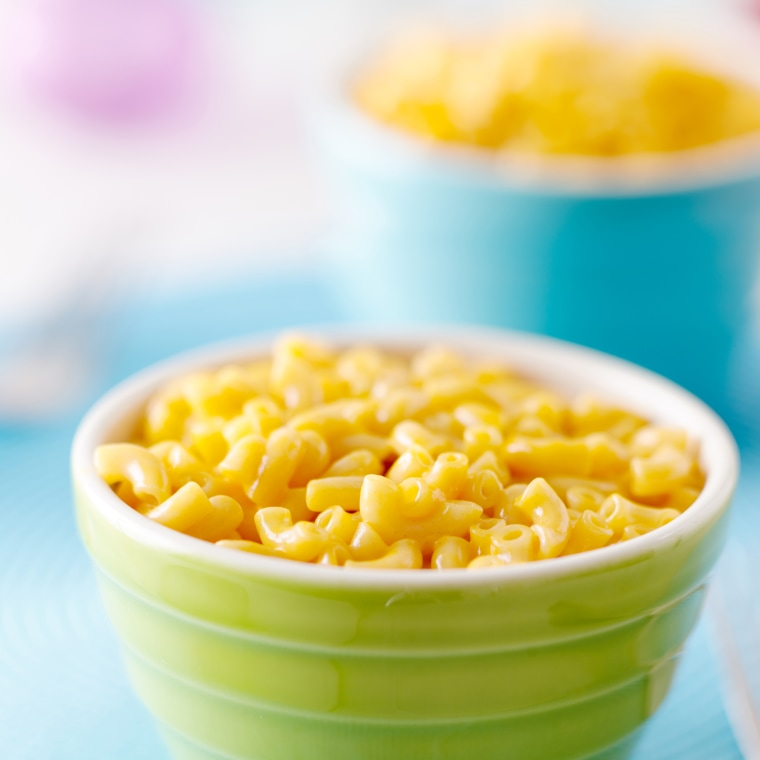 Image: A bowl of macaroni and cheese