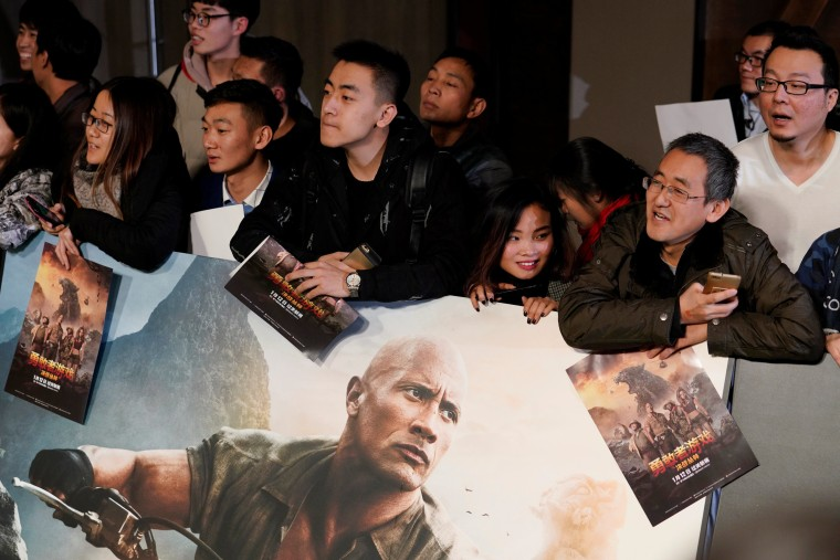 Image: Beijing promotion for 'Jumanji: Welcome to the Jungle'