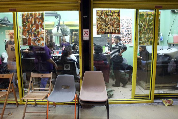Image: A beauty salon in Brixton