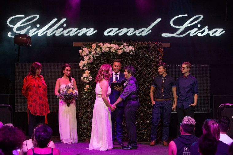 Image: Couples Wed At Midnight Ceremonies As Australian Marriage Act Takes Effect