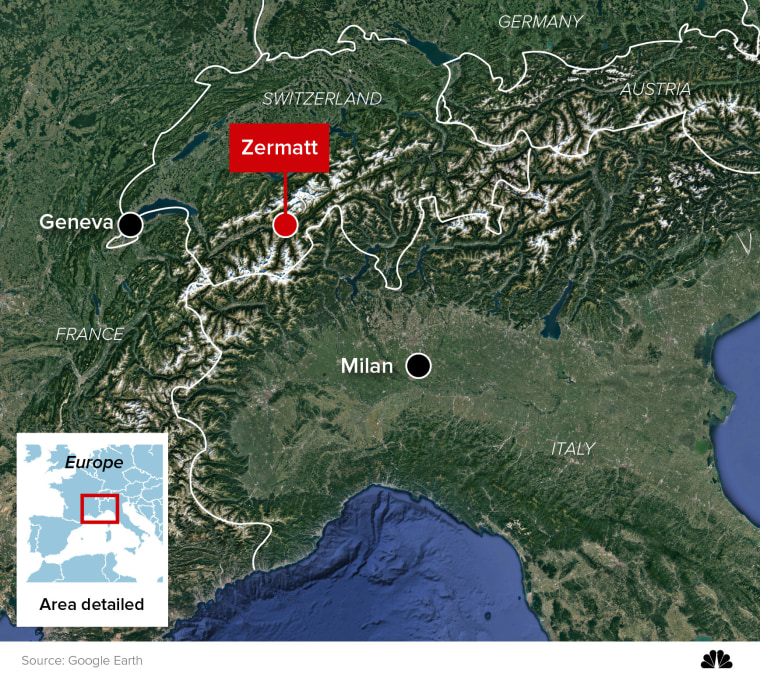 MAP: Zermatt, Switzerland