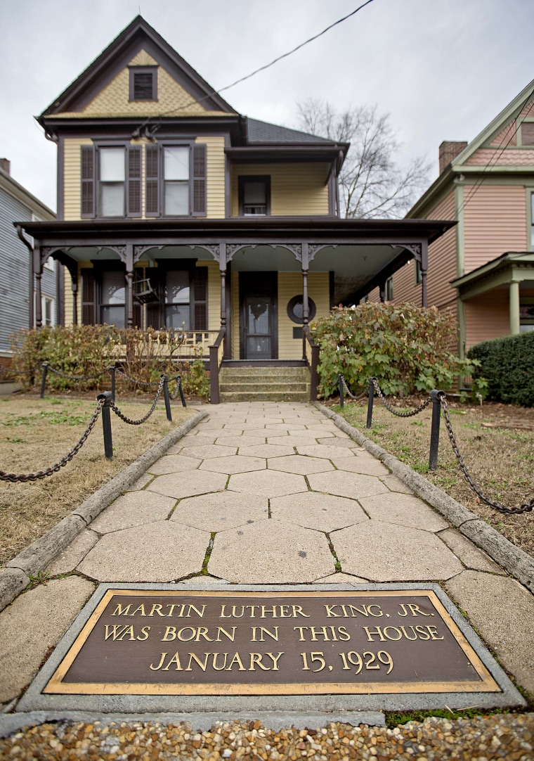 Image: The home where Civil Rights leader Martin Luther King Jr., was born in the historic Sweet Auburn historic district in Atlanta