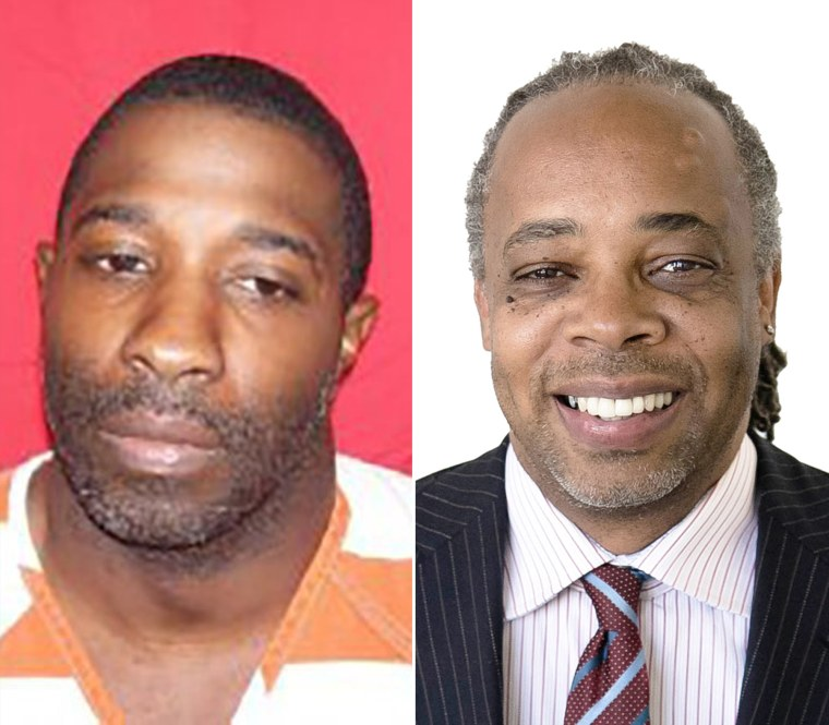 Image: Robert Mccoy, left, and his lawyer Larry English, right.