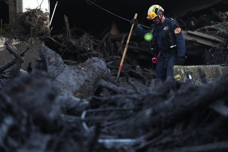 Image: Mudslides Kill At Least 17 People In Santa Barbara County Where Wildfire Scorched Hillside