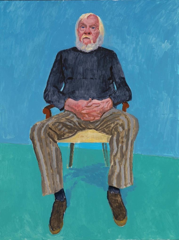 """John Baldessari"" by David Hockney"