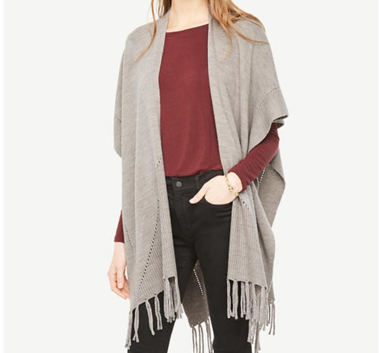 Poncho from Ann Taylor