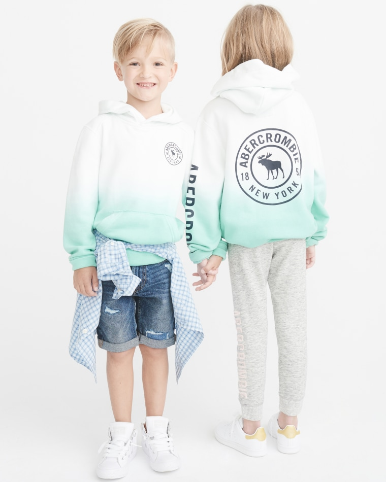 The clothing line is on sale at Abercrombie Kids stores and online this month.