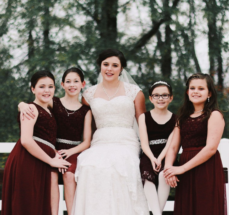 Alabama Baby sitter includes 15 of her adorable charges in her wedding
