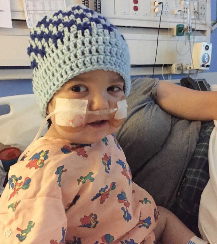 In her short life, Skye received 77 blood transfusions as she battled cancer.