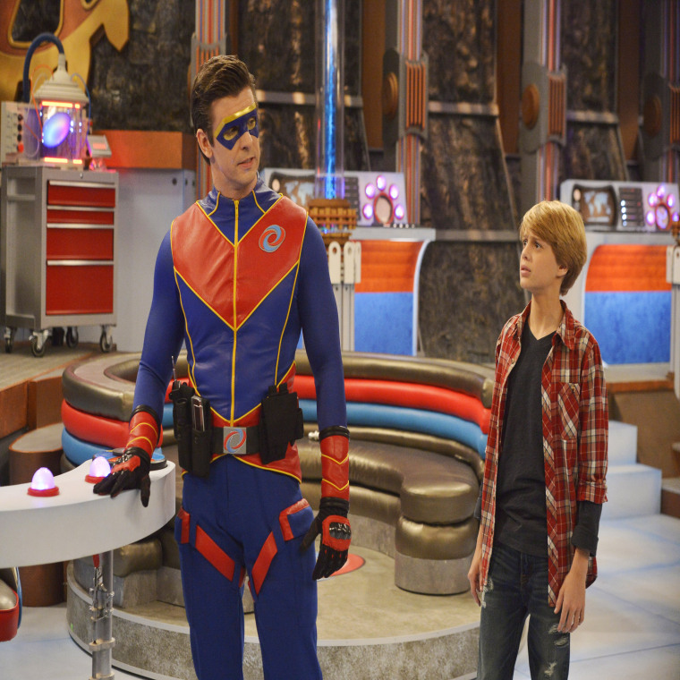 Jace Norman as Kid Danger, and Captain Man, played by Cooper Barnes.