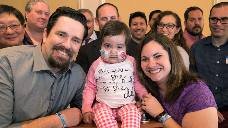 Skye has been cancer free for almost a year. She and her parents recently met 24 of the 71 blood donors that donated blood, which helped her recover from leukemia.