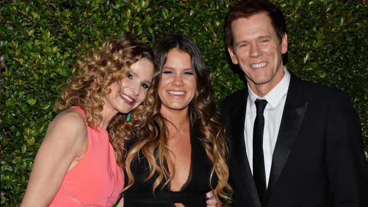 Kyra Sedgwick with daughter Sosie Bacon and husband Kevin Bacon.