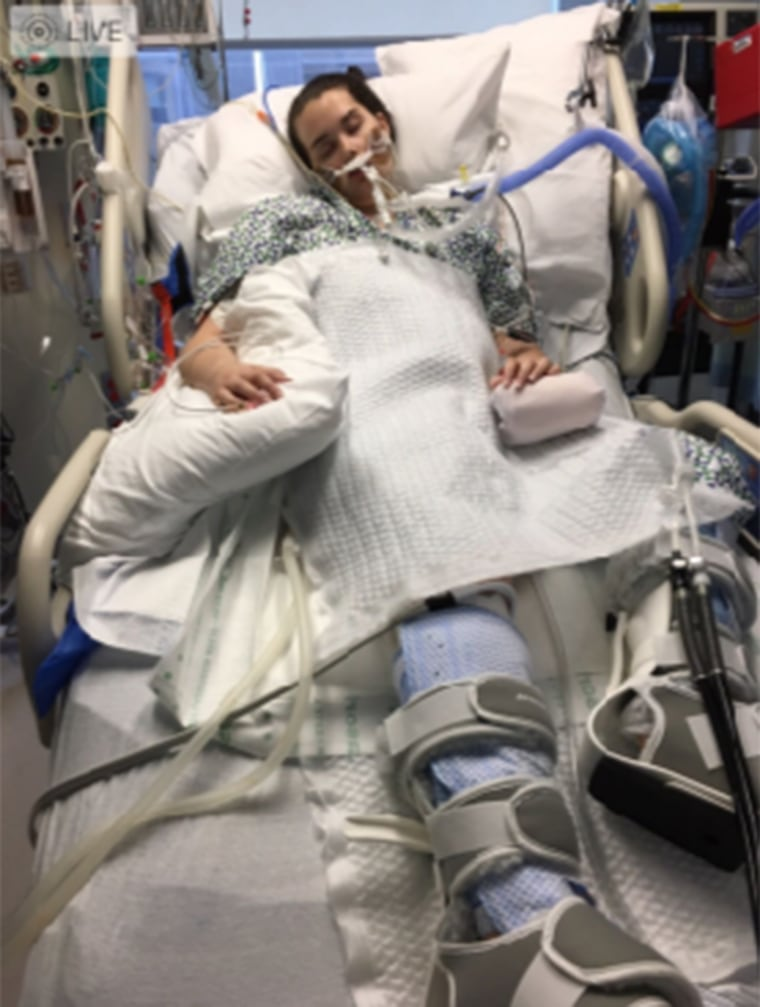 After open-heart surgery to replace an infected valve, Montana Smith, 15, still faced a tough recovery.
