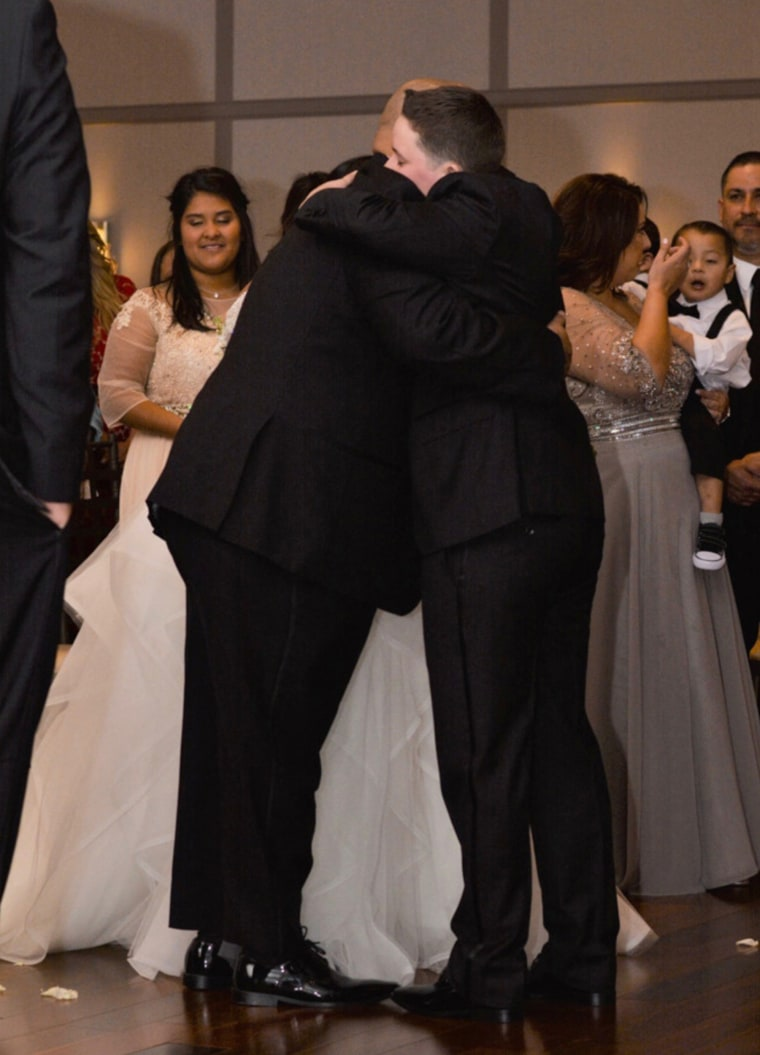 Gonzales remembered the hug her new husband and her father shared at the wedding reception as a huge moment for the entire family.