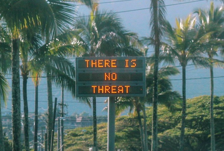 Image: An electronic sign in Oahu