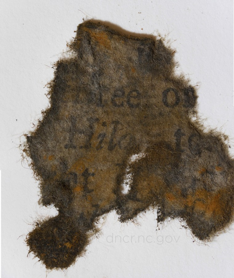Image: Paper from Blackbeard's ship