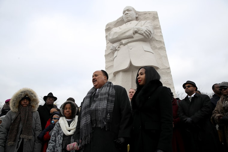 Image: Martin Luther King III, Ryan Zinke Attend Wreath Laying At MLK Memorial In DC