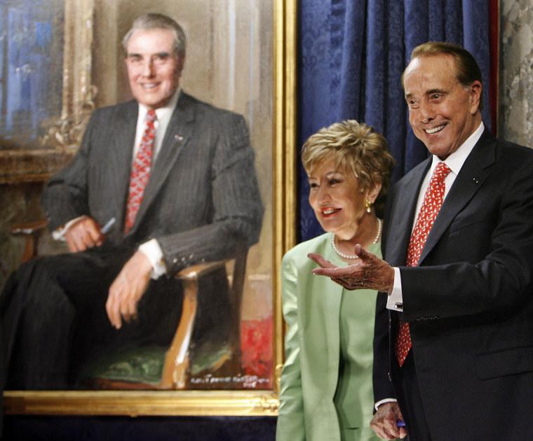 Image: Bob Dole's Portrait Unveiled In US Capitol