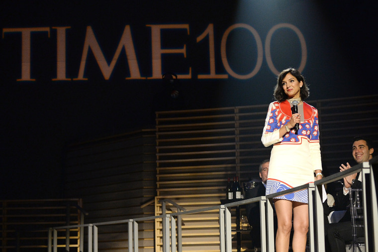 Image: Radhika Jones speaks at the Time 100 gala