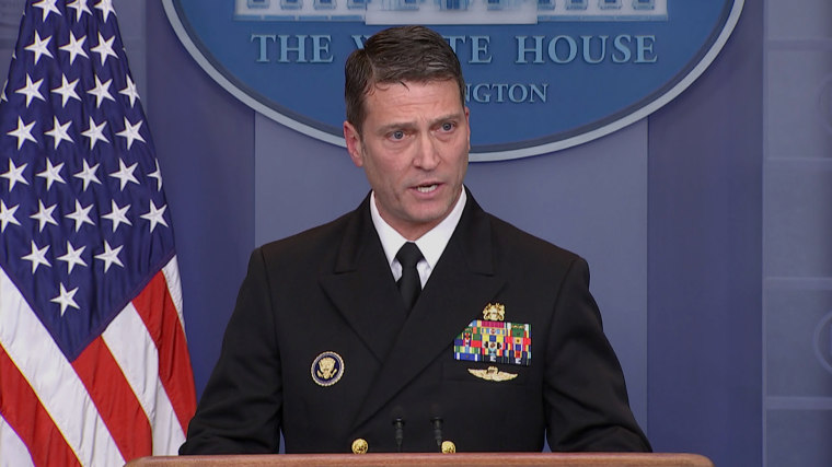 Image: White House physician Dr. Ronny Jackson gives updates on President Donald Trump's medical check-up