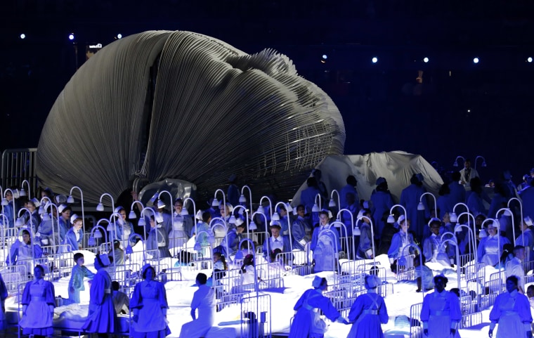 Image: NHS tribute at opening ceremony of 2012 London Summer Olympics