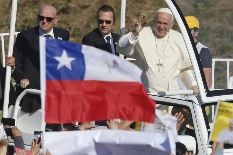 Image: Pope Francisco visits Chile