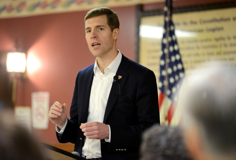 Image: Conor Lamb speaks at his campaign rally in Houston