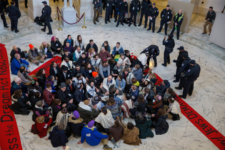 Image: Capitol Hill police arrest Jewish activists protesting for passage of a clean DACA bill