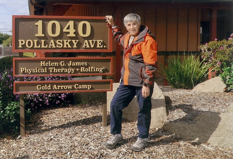 Image: Helen James at the Helen G. James Physical Therapy facility in Clovis, California.
