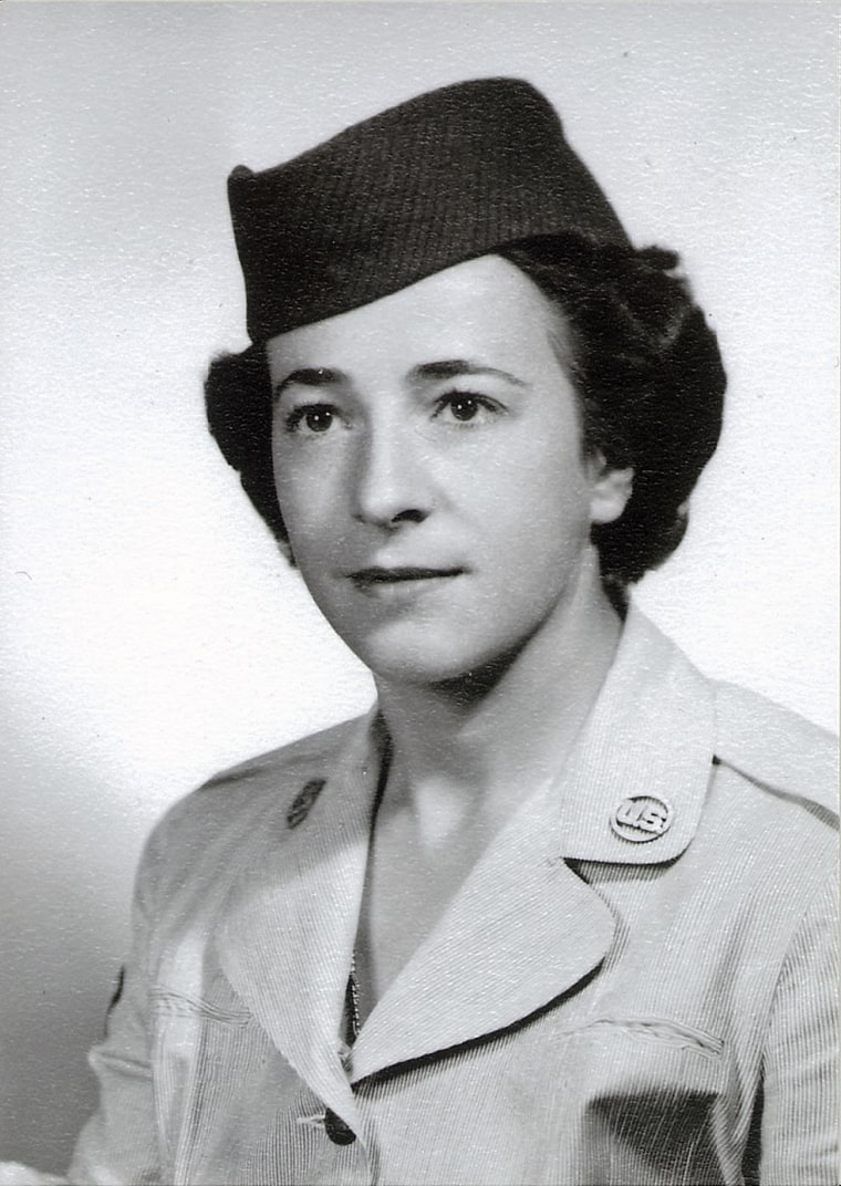 Image: Helen James entered the military in 1952 as a radio operator on a base in Roslyn, New York.