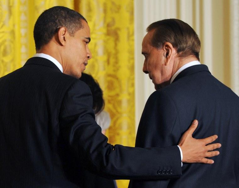 Image: President Barack Obama chats with Dole
