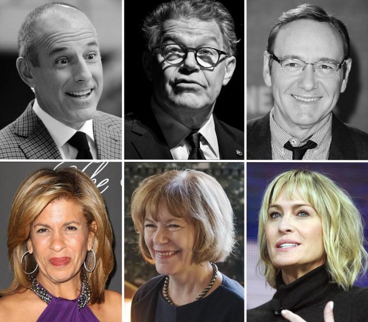 Image: Matt Lauer, Al Franken, Kevin Spacey, Hoda Kotb, Tina Smith and Robin Wright