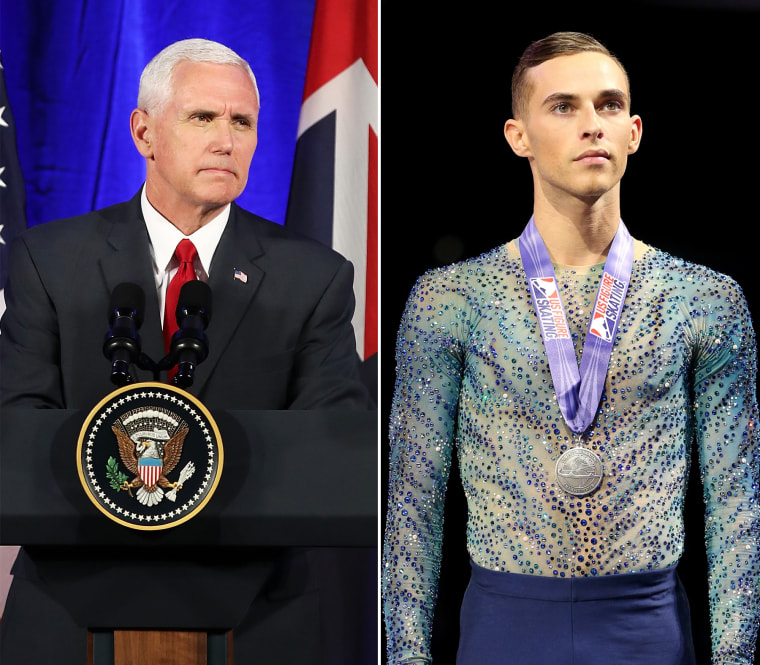 Image: Mike Pence, Adam Rippon