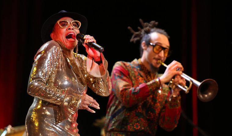 American jazz singer, Dee Dee Bridgewater, performing at the 33rd annual International Jazz Plaza Festival in Havana, Cuba on 1/18/2018.