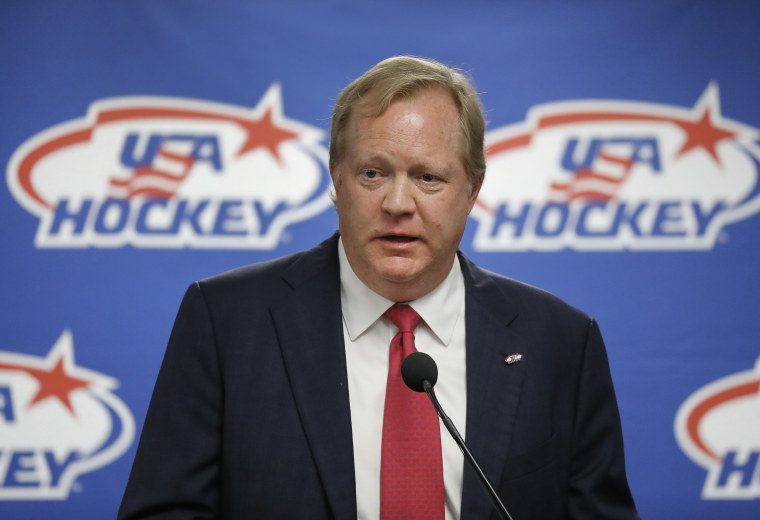 Image: Jim Johannson speaks during a news conference