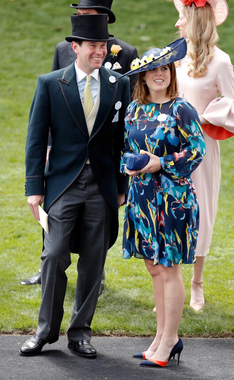 Jack Brooksbank and Princess Eugenie of York